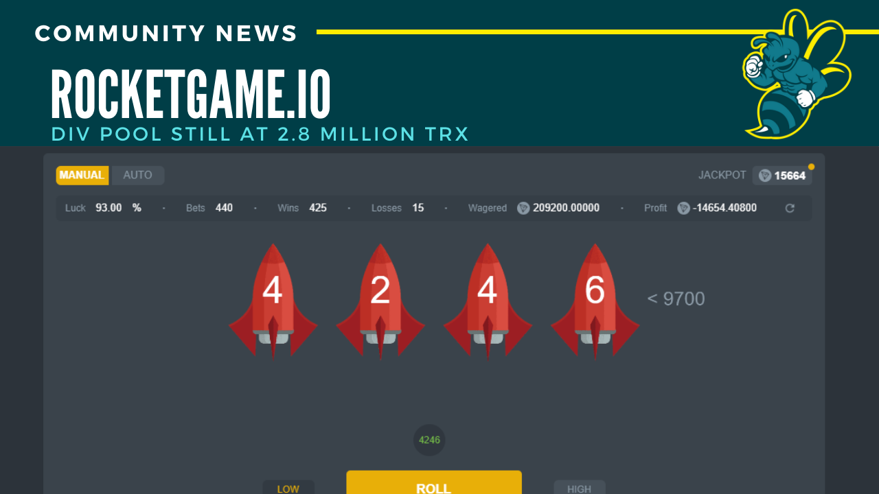 RocketGame.io div pool still looking strong