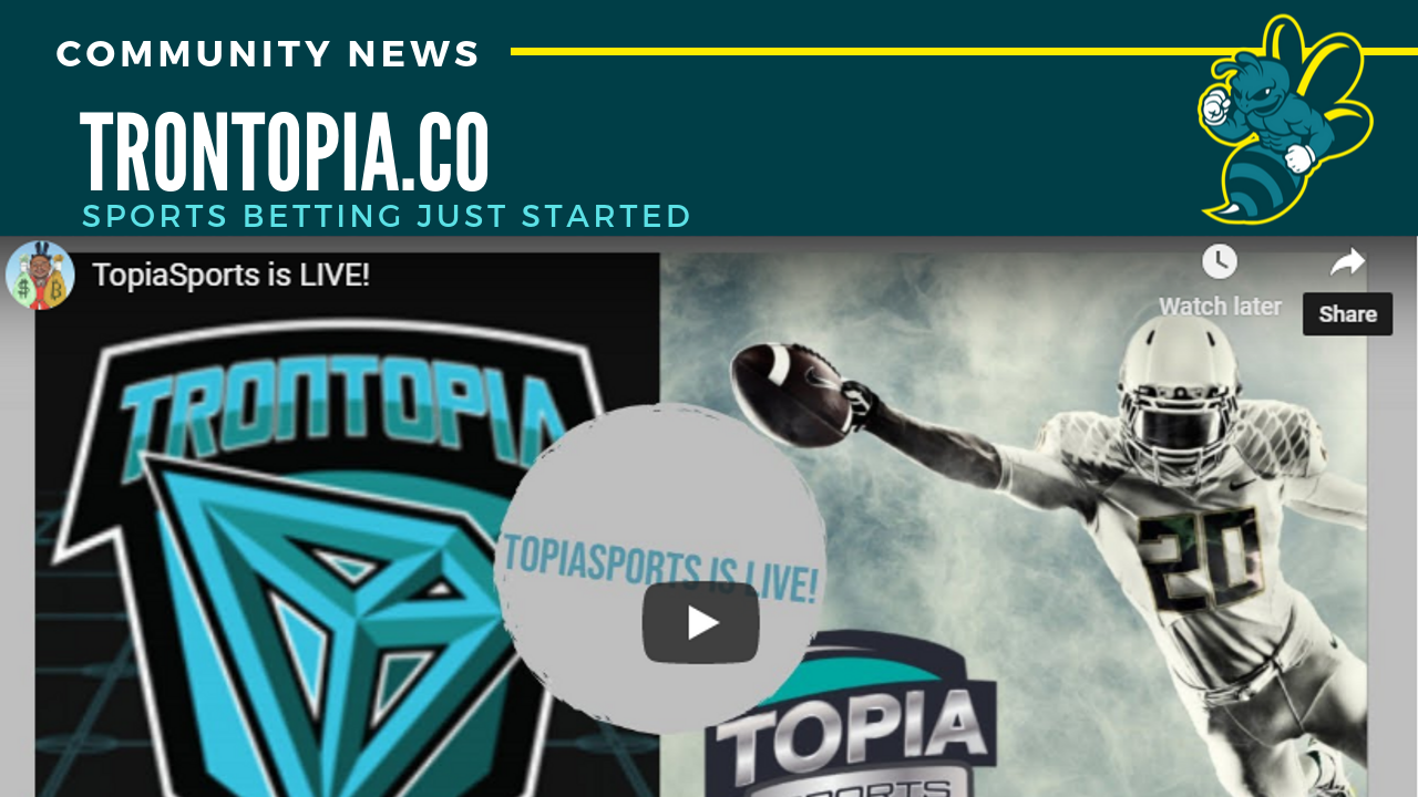 TronTopia launches sports betting