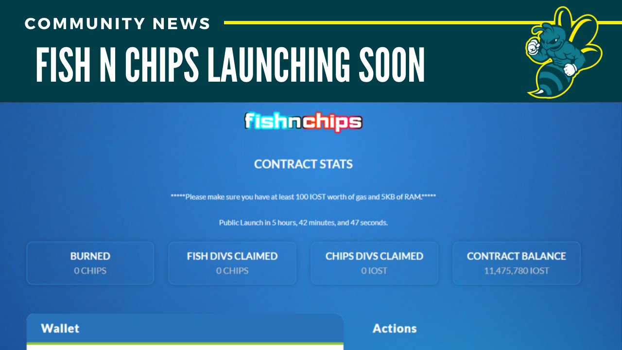 Fish n' Chips launching at 2pm PST