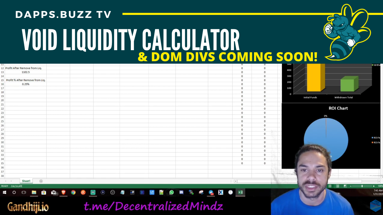 VOID Liquidity Calculator | DOM Divs Coming SOON!