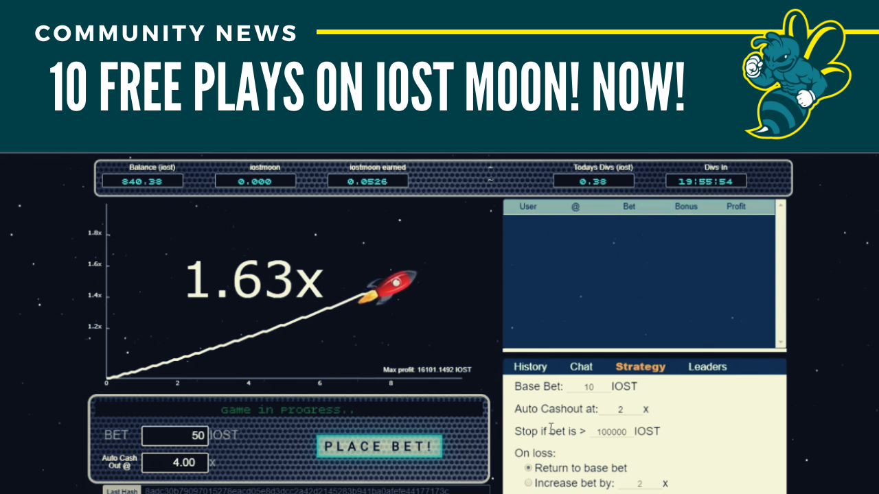 10 Free Plays On IOST Moon! NOW!
