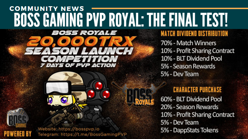 Boss Gaming PvP Royal: the Final test!