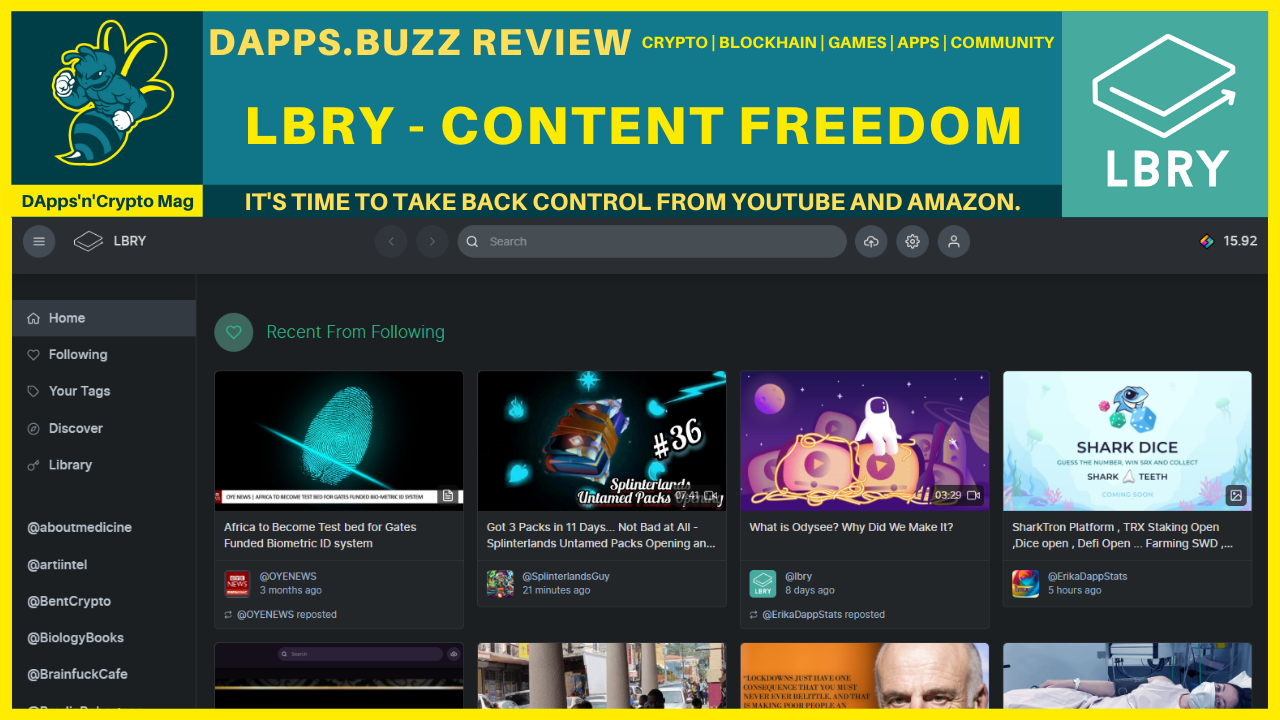 DApp Review: LBRY – Content Freedom