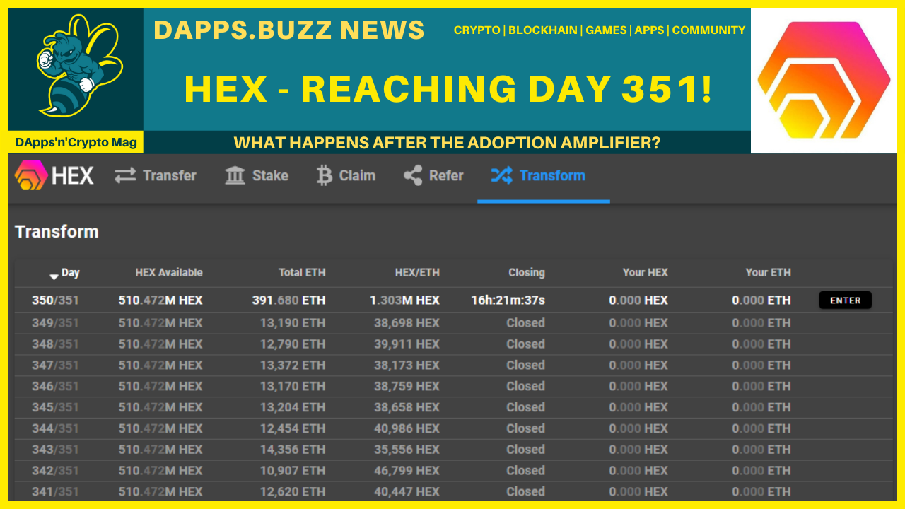 HEX – Reaching Day 351!