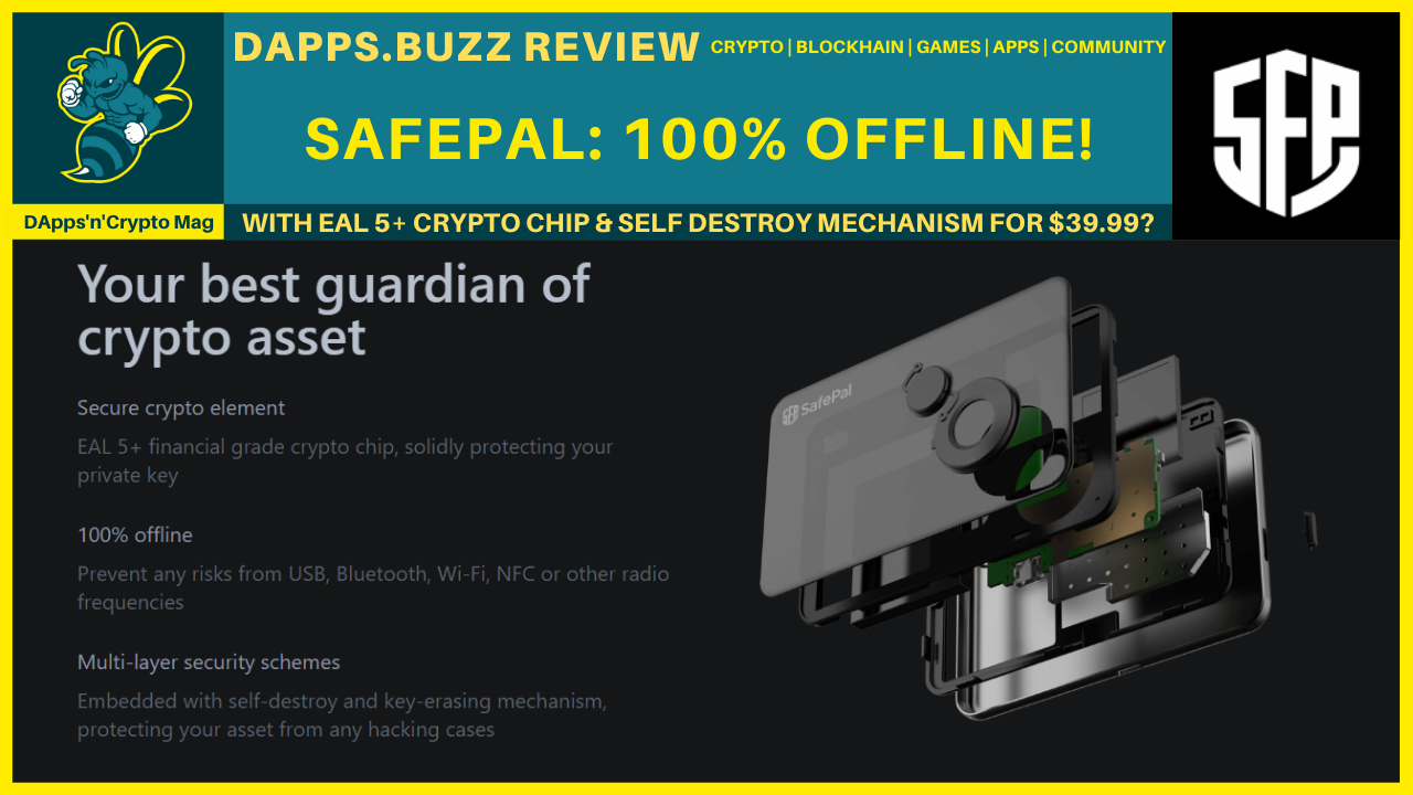 SafePal – What a Hardware Wallet! Scored 96/100!