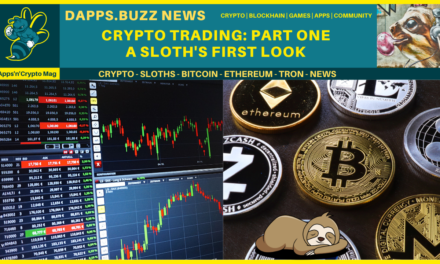 Crypto Trading. Part One A sloth's first look!