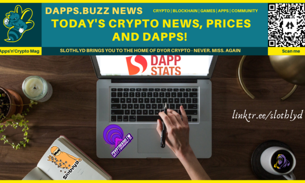 Crypto Update – 20th apr. DappStats token price and v2x info